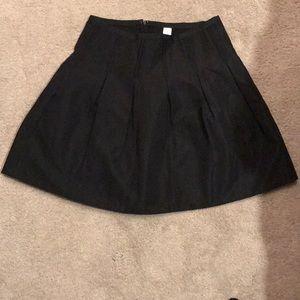 Gap black taffeta-like full skirt-like new